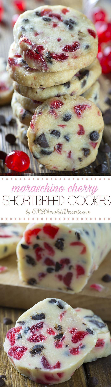 Christmas Cherry Cookies  Christmas Maraschino Cherry Shortbread Cookies