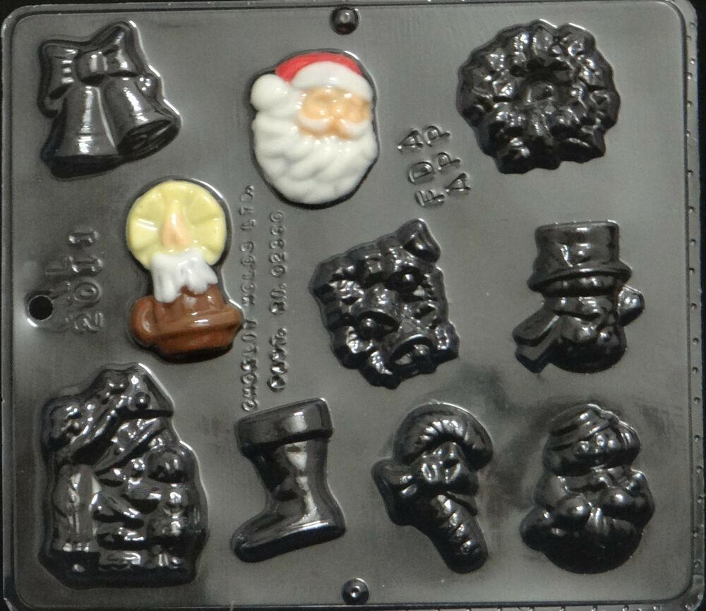 Christmas Chocolate Candy Molds  Christmas Assortment Chocolate Candy Mold Christmas 2011