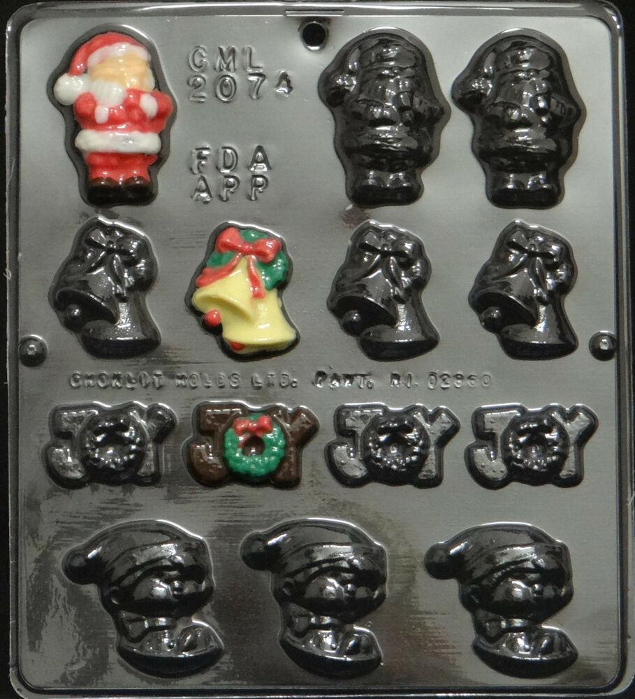 Christmas Chocolate Candy Molds  Christmas Assortment Chocolate Candy Mold Christmas 2074
