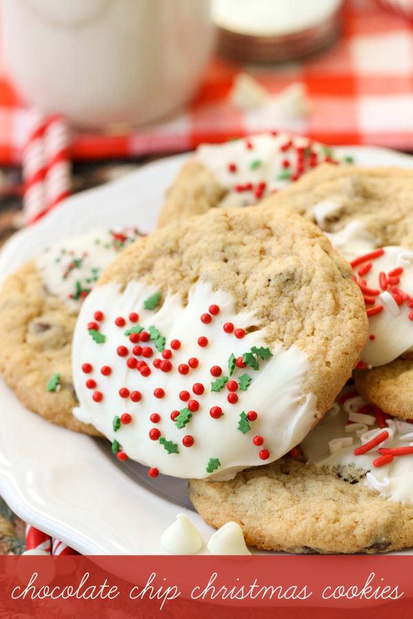 Christmas Chocolate Chip Cookies  Chocolate Chip Christmas Cookies