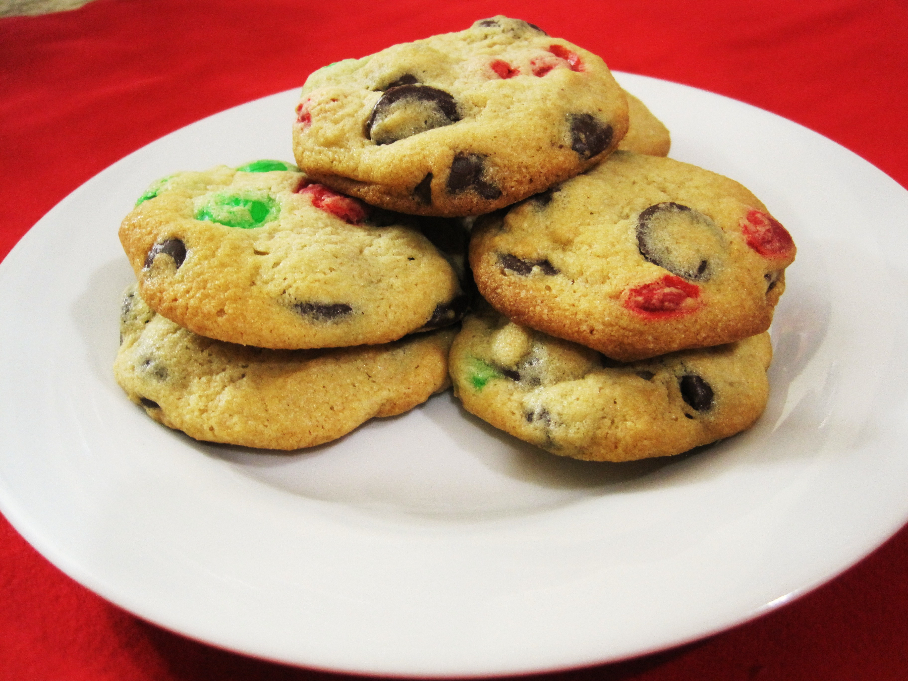 Christmas Chocolate Chip Cookies  Holiday Chocolate Chip Cookies