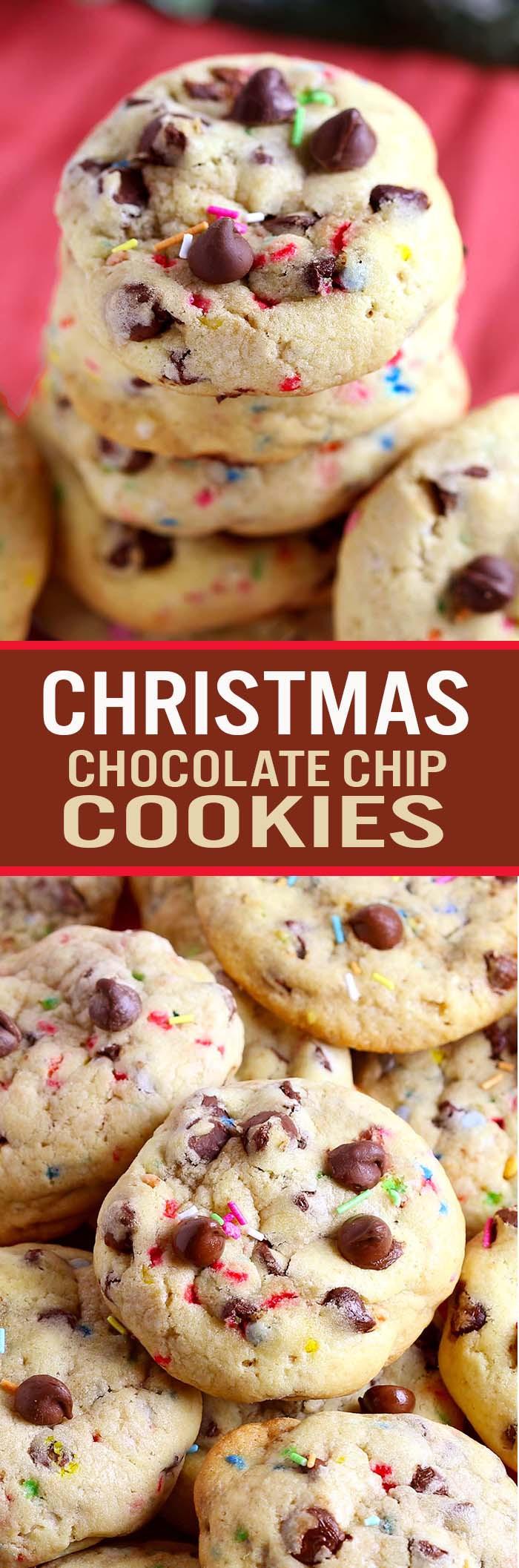 Christmas Chocolate Chip Cookies  Christmas Chocolate Chip Cookies Cakescottage