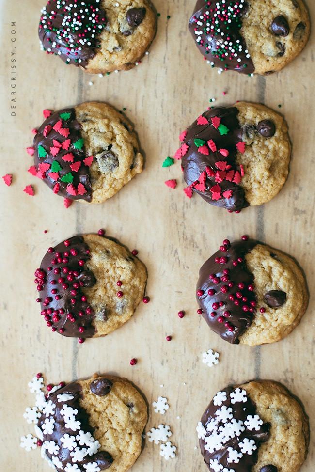 Christmas Chocolate Chip Cookies  Tropical Chocolate Chip Christmas Cookies Recipe — Dishmaps