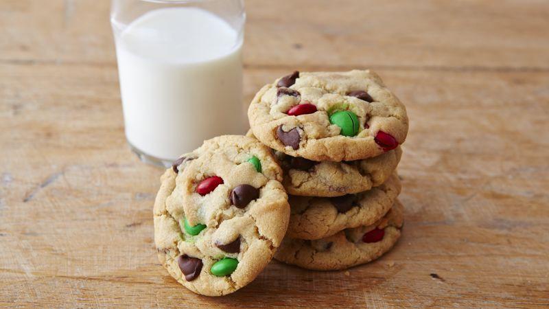 Christmas Chocolate Chip Cookies  Chocolate Chip M&Ms™ Christmas Cookies Recipe