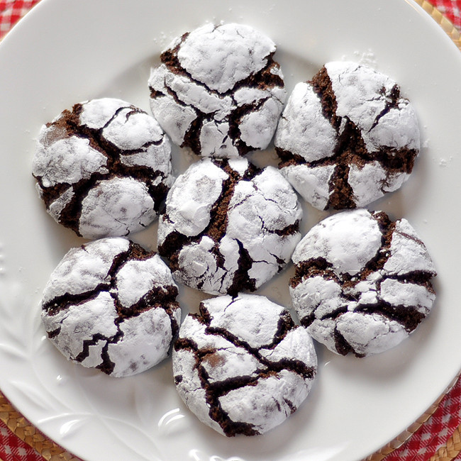 Christmas Chocolate Cookies  foo Blog Archive Chocolate Crinkle Cookies