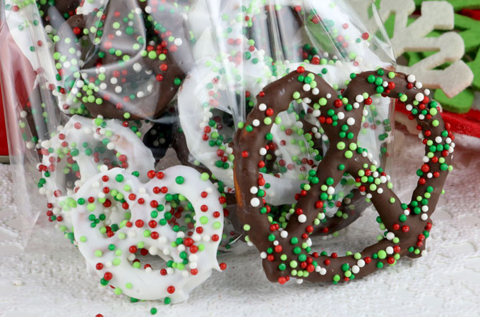 Christmas Chocolate Pretzels  Homemade Chocolate Covered Pretzels Two Sisters