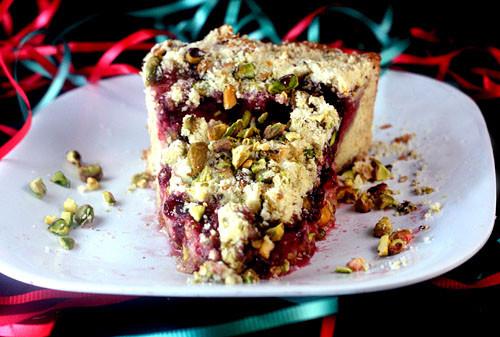 Christmas Coffee Cake  Raspberry Pistachio Cream Cheese Coffee Cake A Giveaway