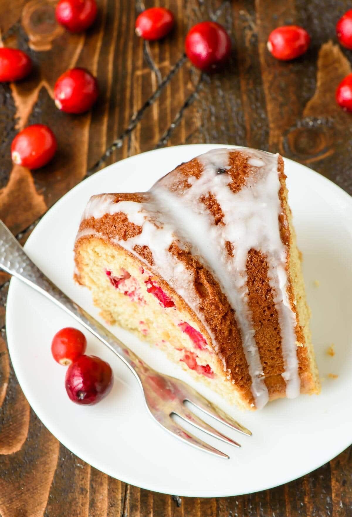 Christmas Coffee Cake  Cranberry Sour Cream Coffee Cake