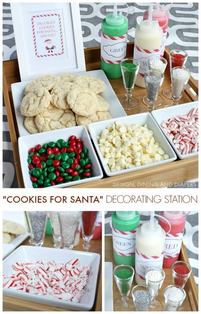 Christmas Cookie Baking Party  Christmas Cookie Decorating Station Taryn Whiteaker