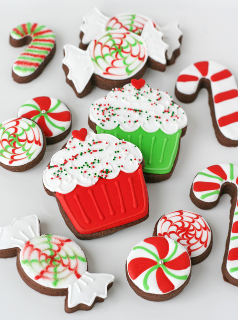 Christmas Cookie Icing Ideas  Peppermint Candy Decorated Cookies – Glorious Treats