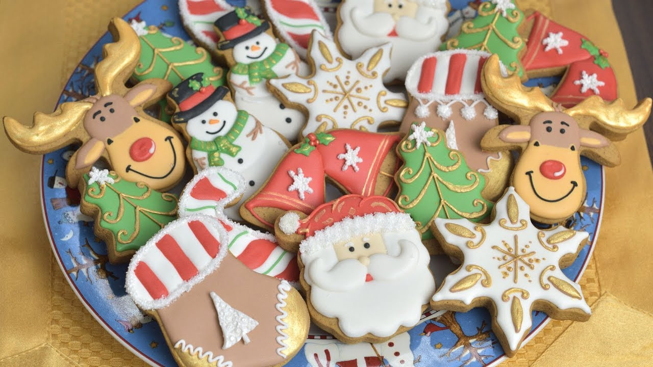 Christmas Cookie Icing  CHRISTMAS COOKIES Decorating with Royal Icing for