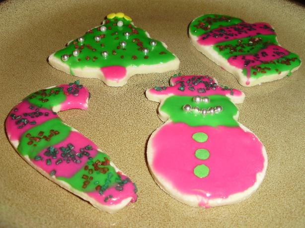 Christmas Cookie Icing That Hardens  Low Fat Holiday Sugar Cookies With Icing That Hardens