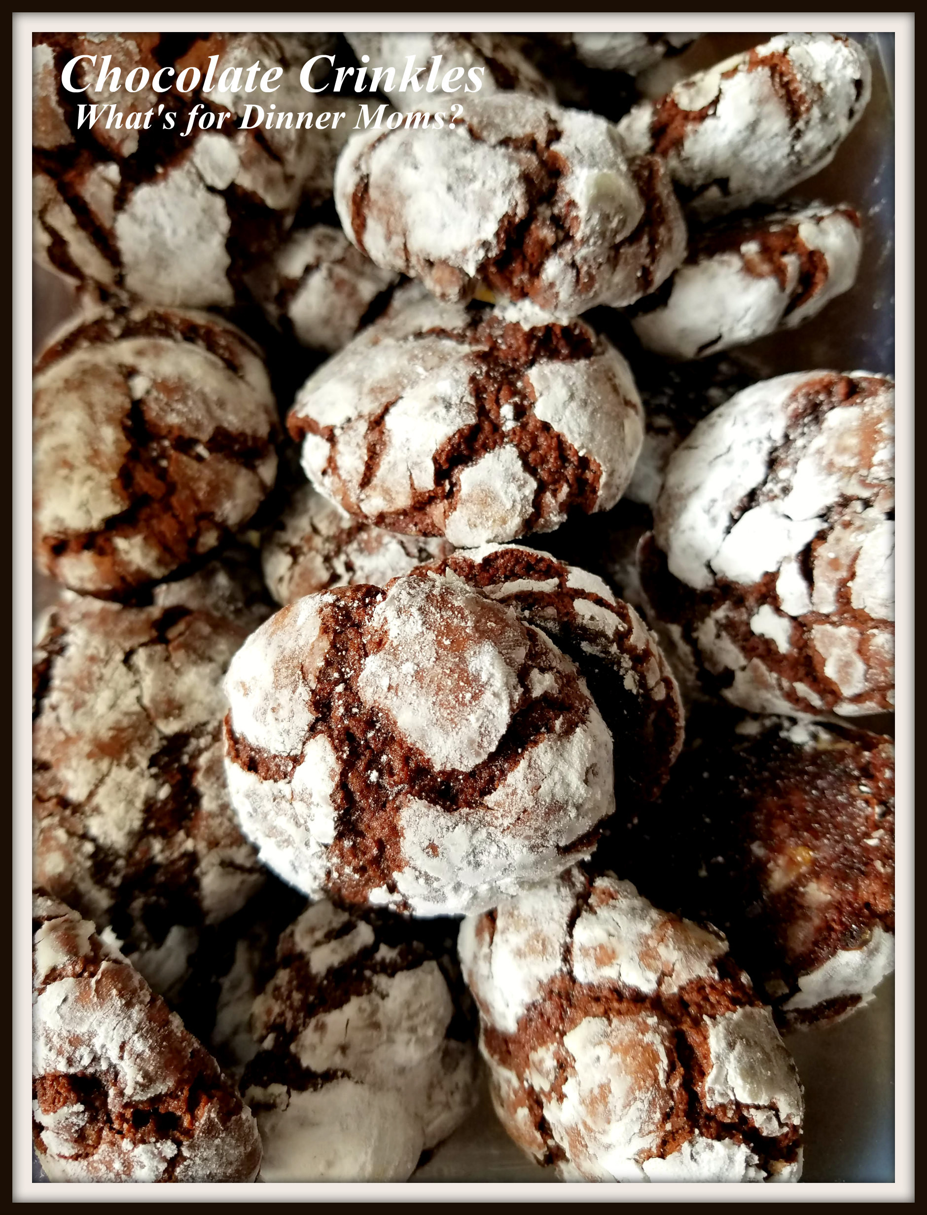 Christmas Cookies 2019 Movie  Christmas Cookies Week 1 2019 Chocolate Crinkles – What