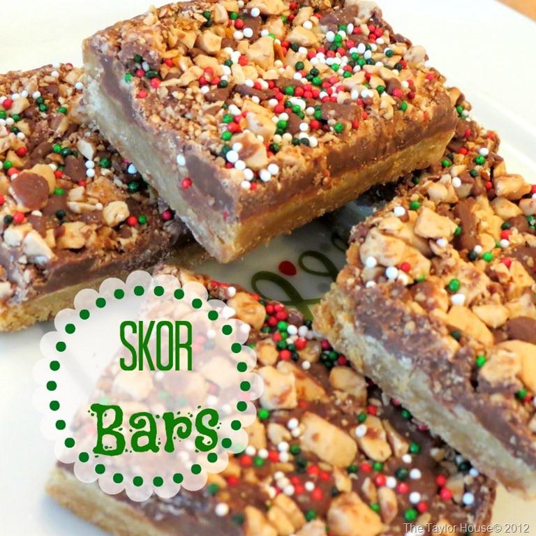 Christmas Cookies And Bars  Christmas Skor Bars