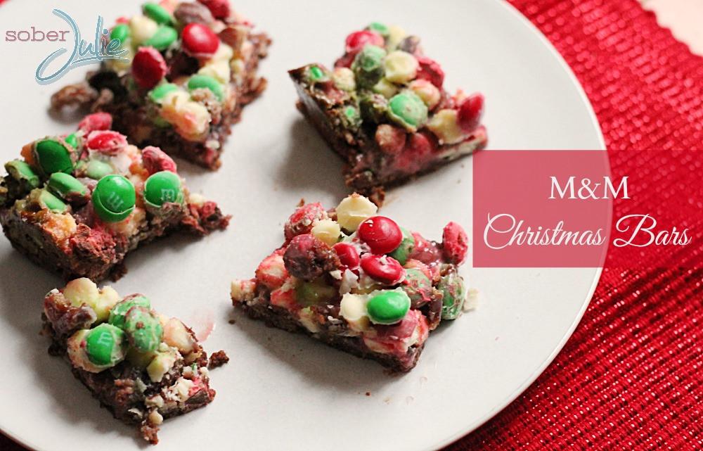 Christmas Cookies And Bars  M&M Christmas Bar Recipe Christmas Cookie Week