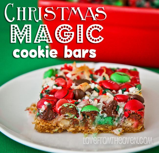 Christmas Cookies And Bars  Christmas Magic Cookie Bars