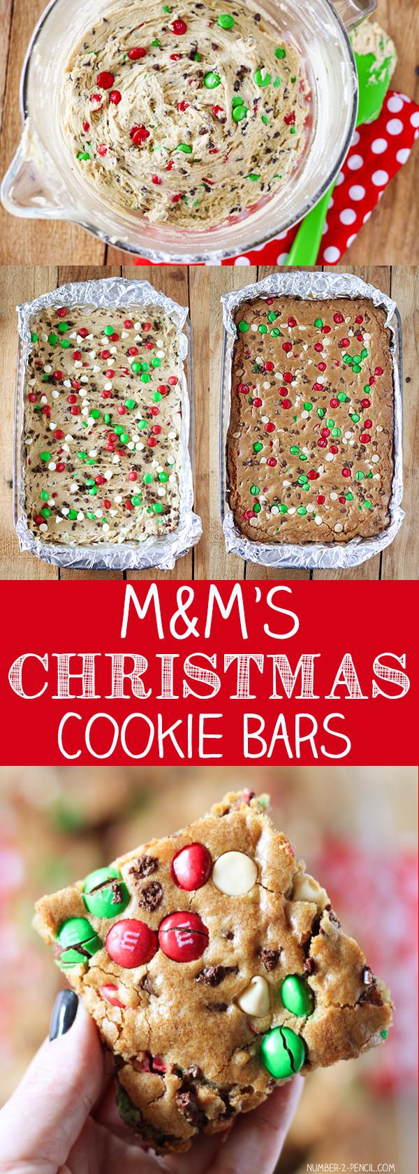 Christmas Cookies And Bars  M&M S Christmas Cookie Bars No 2 Pencil