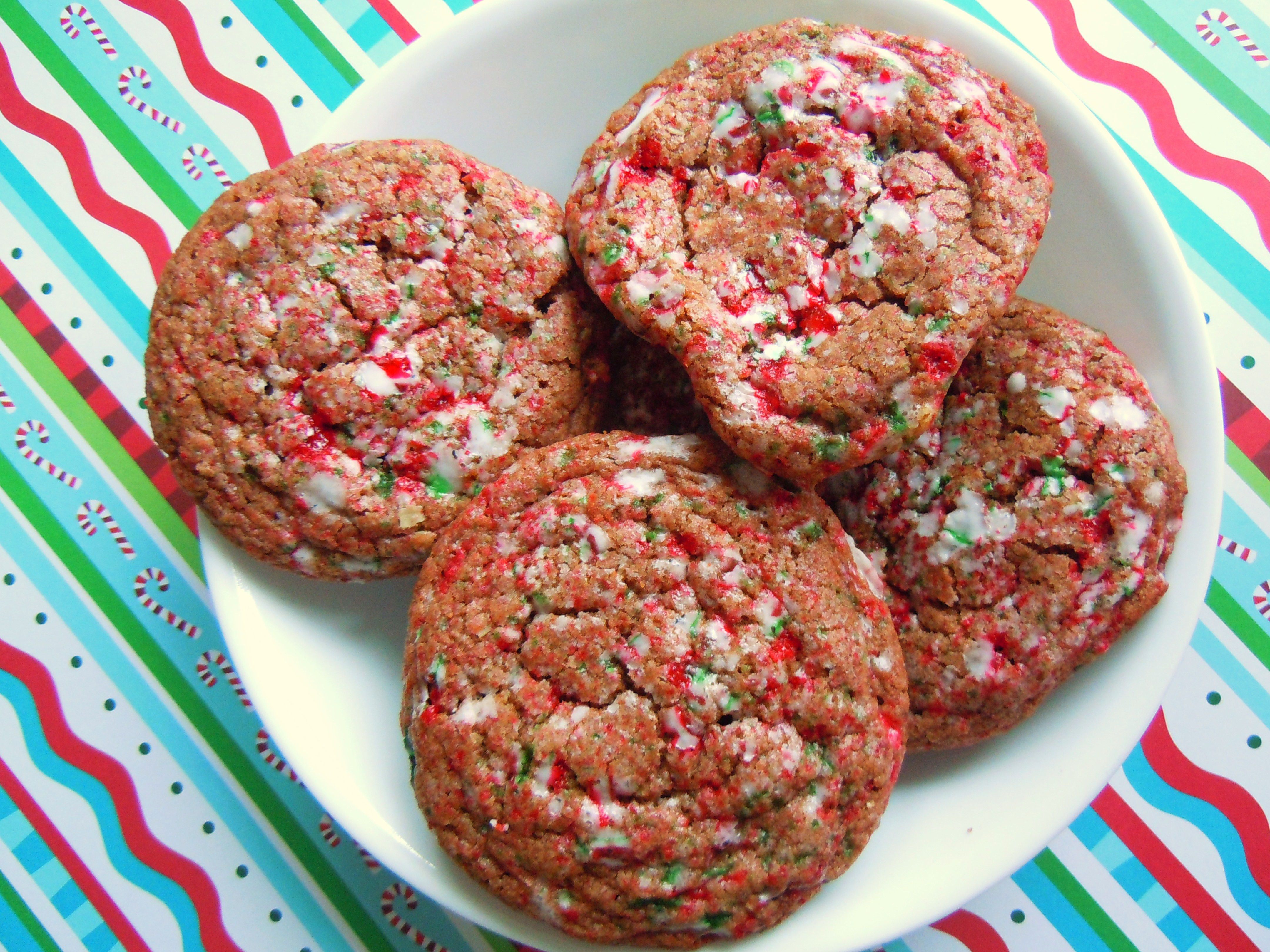 Christmas Cookies And Candy Recipes  Christmas Cookie Baking Fun Crackled Chocolate Candy Cane