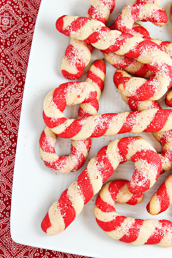 Christmas Cookies And Candy Recipes  Christmas Candy Cane Cookies Recipe Home Cooking Memories
