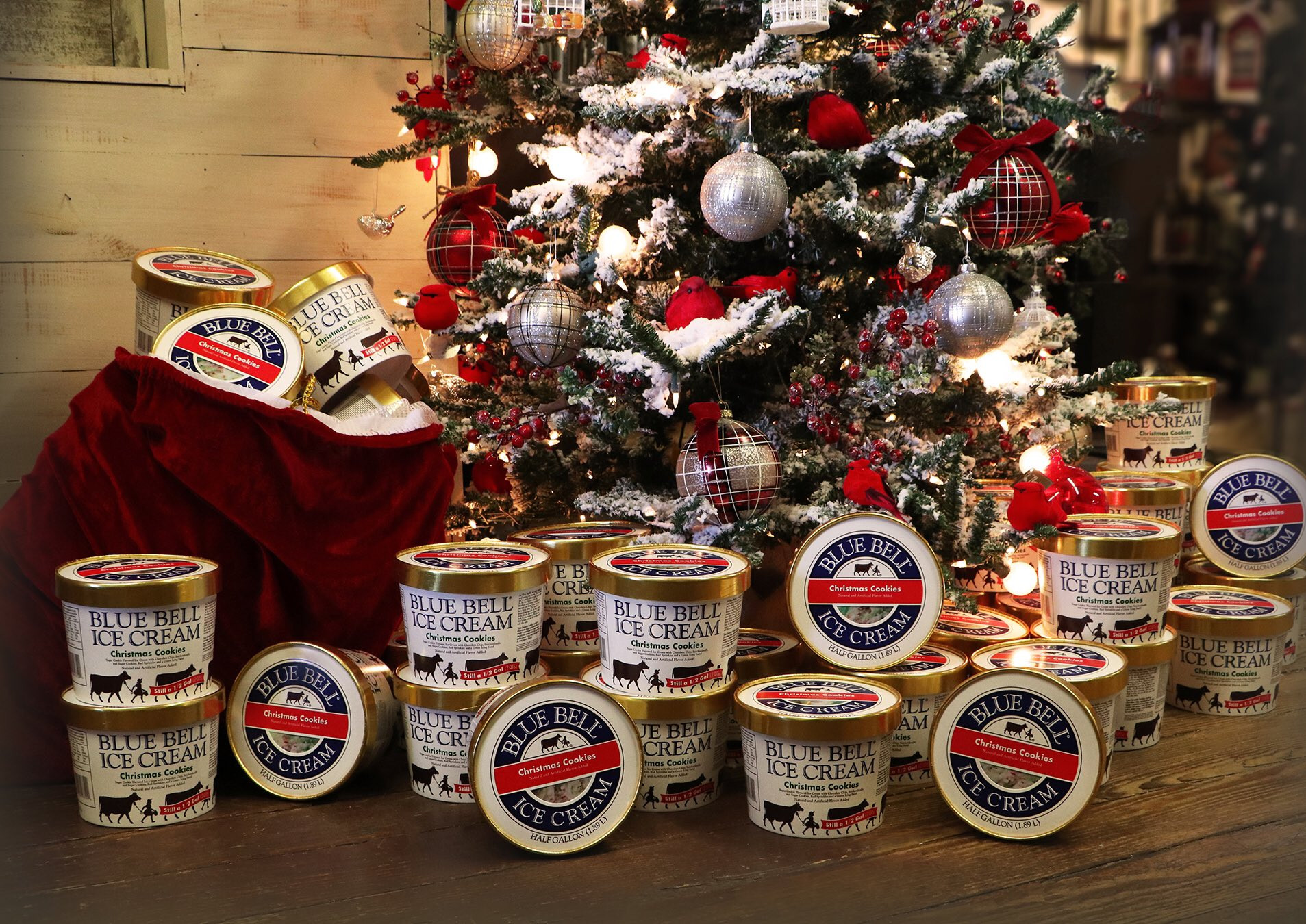 Christmas Cookies Blue Bell  Blue Bell s Christmas Cookie Is Back on Shelves