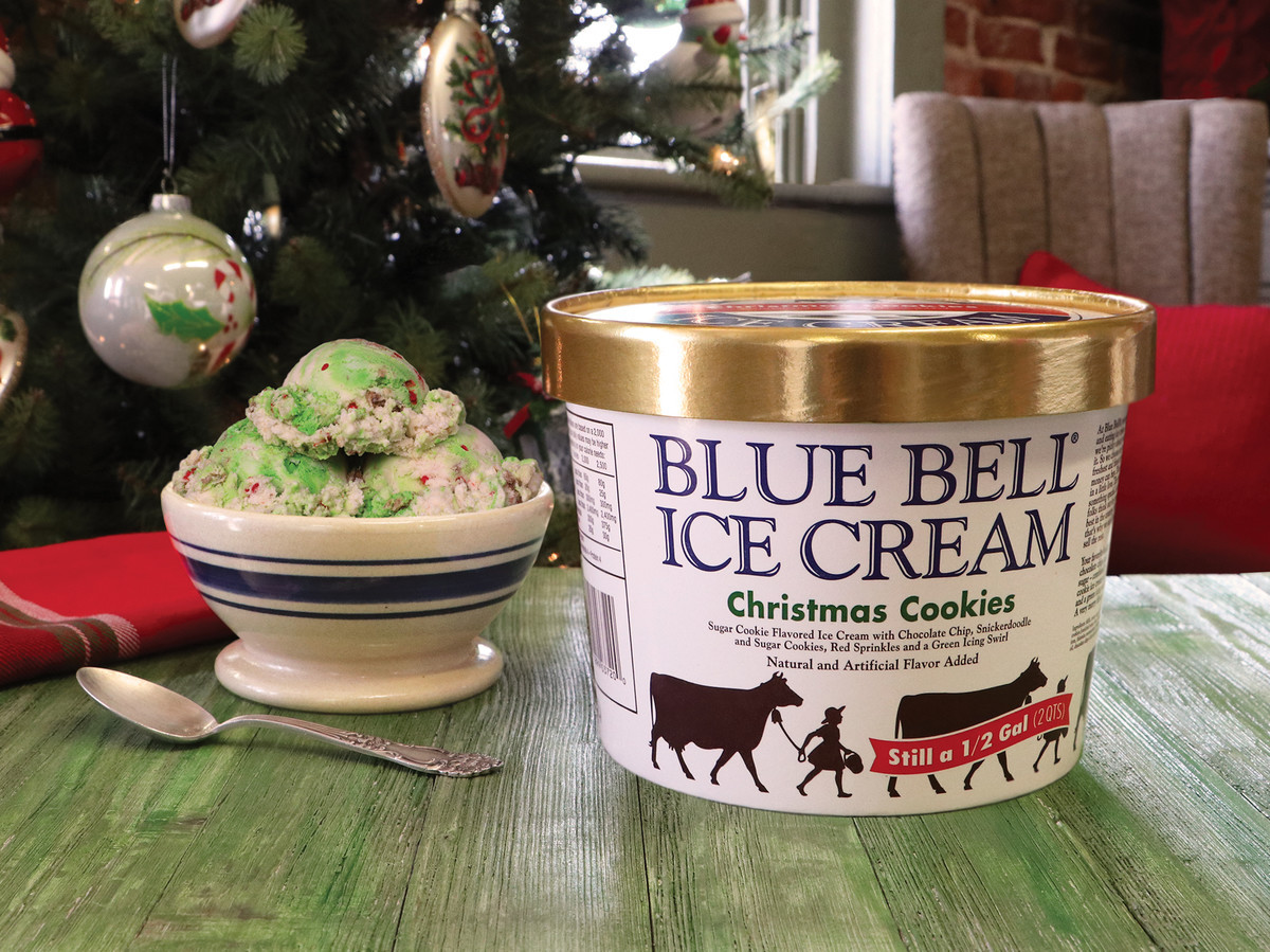 Christmas Cookies Blue Bell  We Can t Wait for Blue Bell Christmas Cookie Ice Cream to