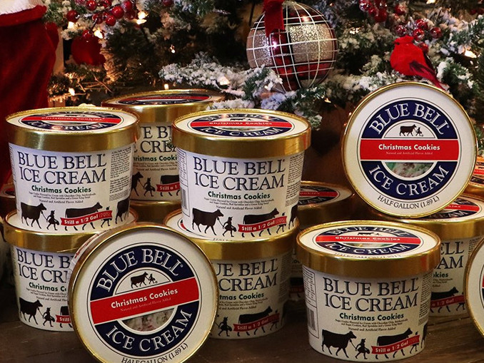 Christmas Cookies Blue Bell  Blue Bell Wel es Back Christmas Cookies Ice Cream For