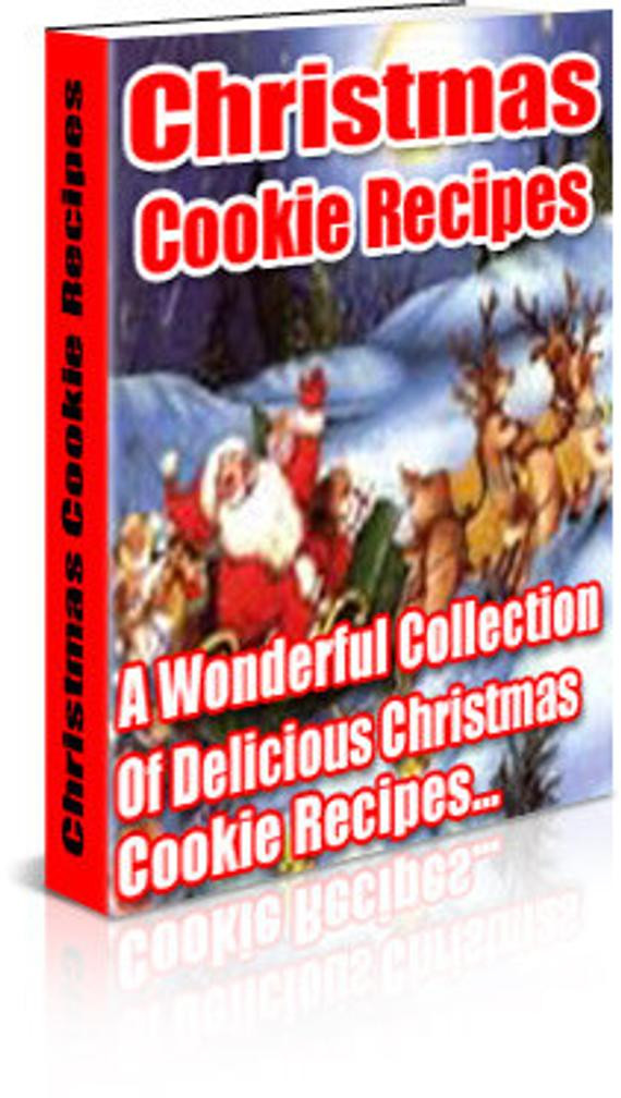 Christmas Cookies Book  Christmas Cookie Recipe Book Instant Digital Download
