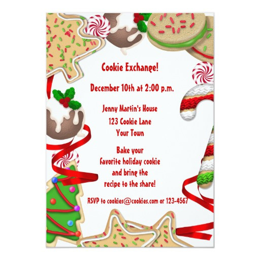 Christmas Cookies Borders  Holiday Cookie Border Exchange Invitation