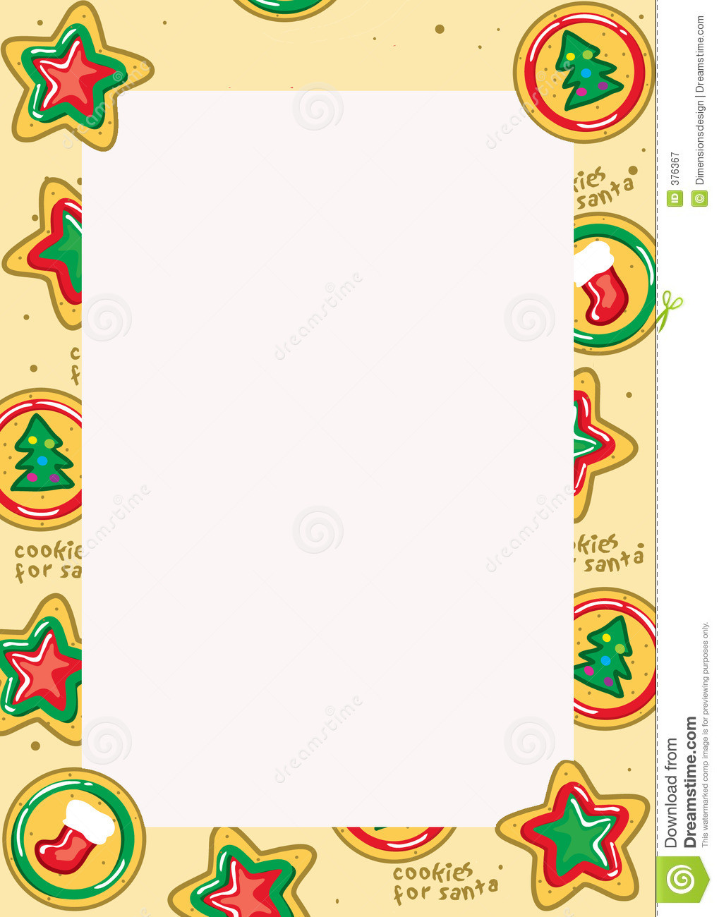 Christmas Cookies Borders  Best Christmas Cookie Border Clipartion