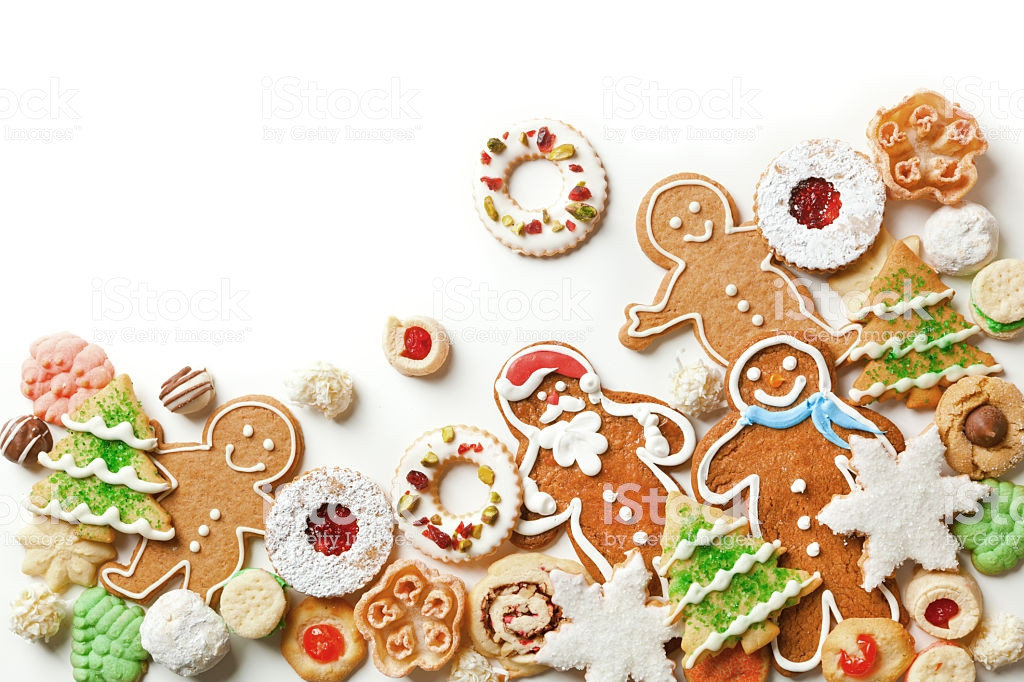Christmas Cookies Borders  Christmas Cookies Top Corner Frame Border White