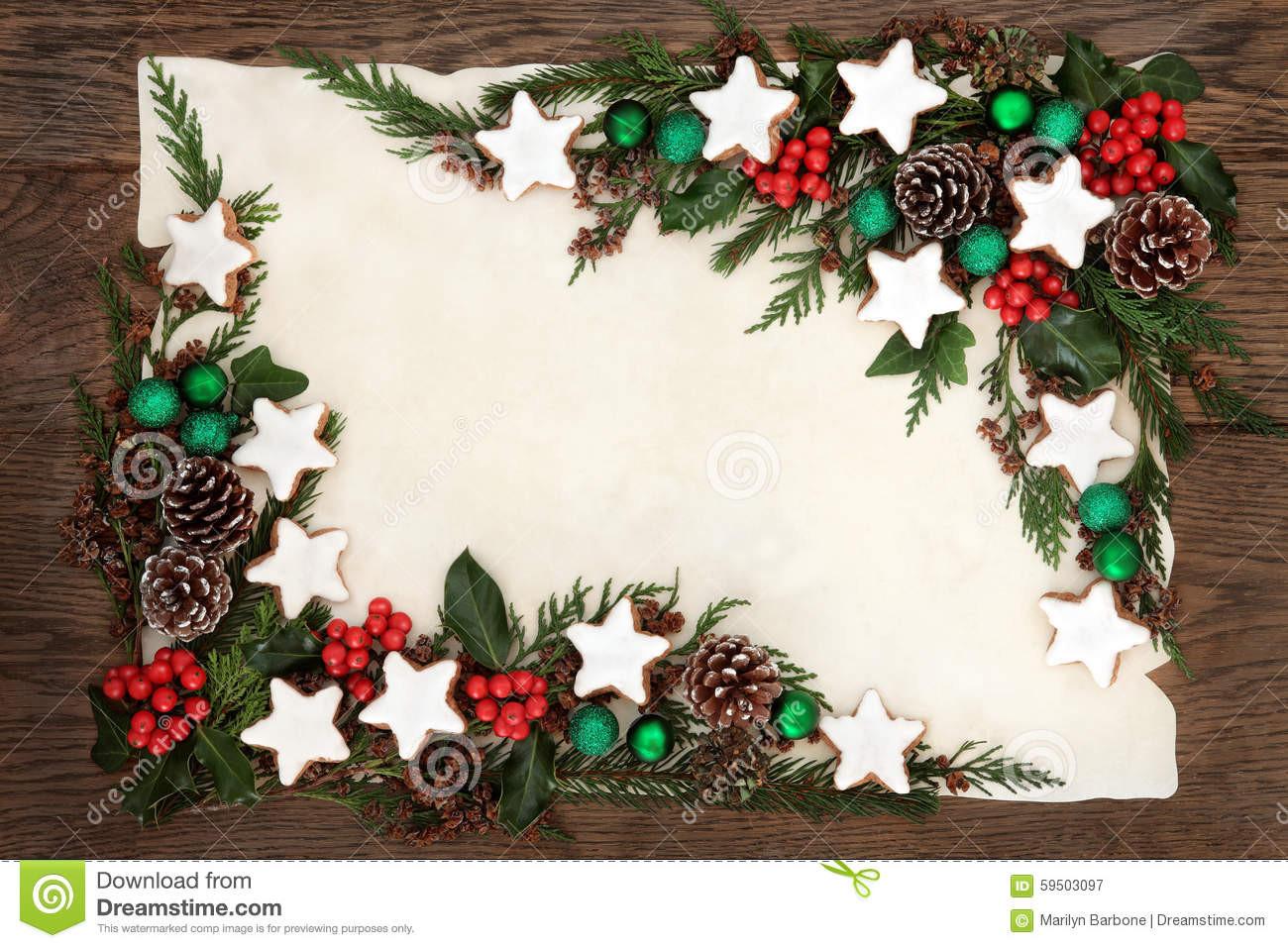 Christmas Cookies Borders  Christmas Cookie Border stock image Image of display