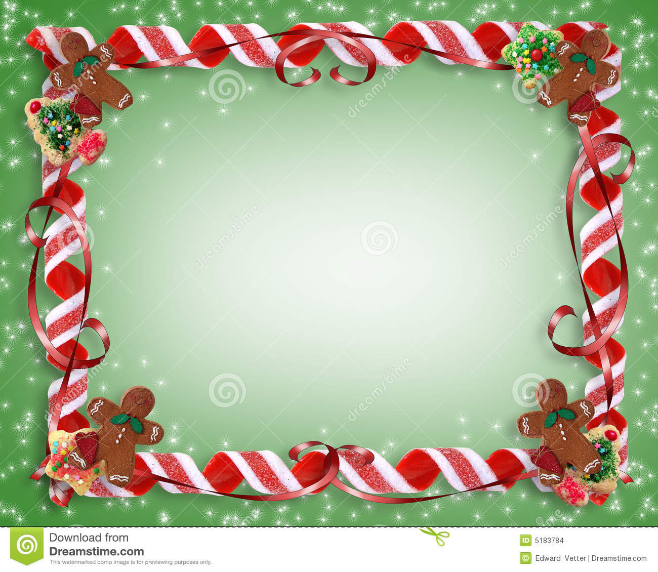Christmas Cookies Borders  Christmas Cookies And Candy Frame Stock Illustration