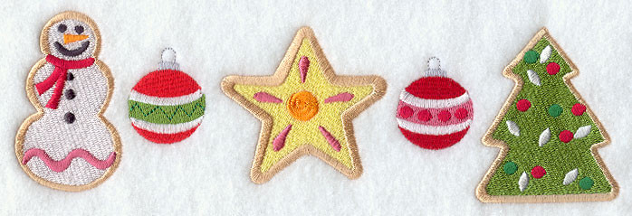 Christmas Cookies Borders  Machine Embroidery Designs at Embroidery Library