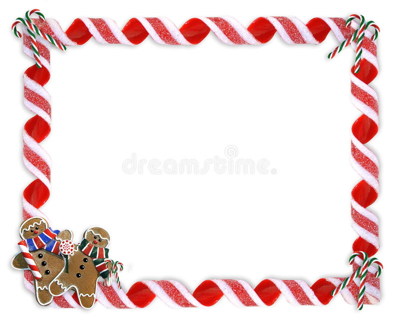 Christmas Cookies Borders  Christmas Border Cookies And Candy Stock Illustration