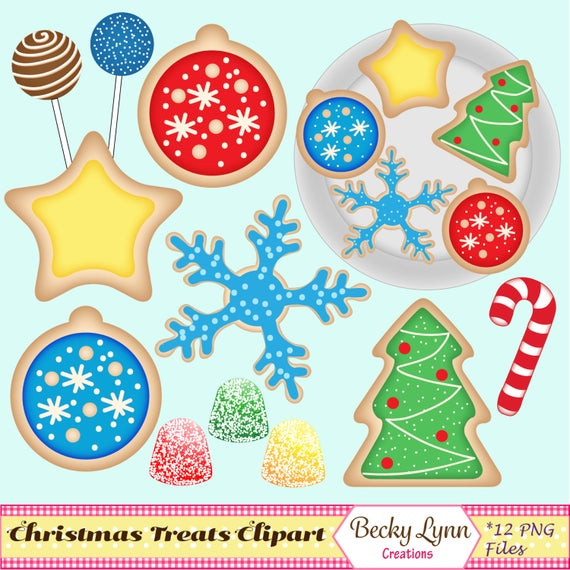 Christmas Cookies Clip Art  Christmas Cookies Clip Art Set Christmas Cookie Graphics
