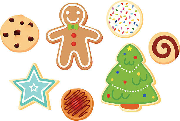 Christmas Cookies Clip Art  Top 60 Christmas Cookies Clip Art Vector Graphics and