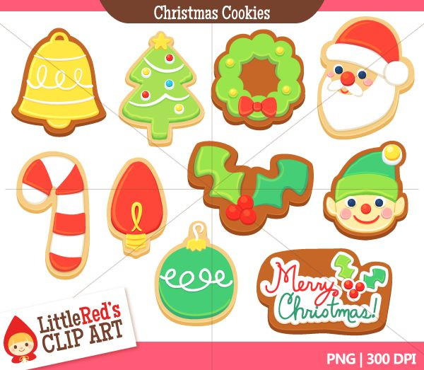 Christmas Cookies Clip Art  100 best images about Christmas Cookies on Pinterest