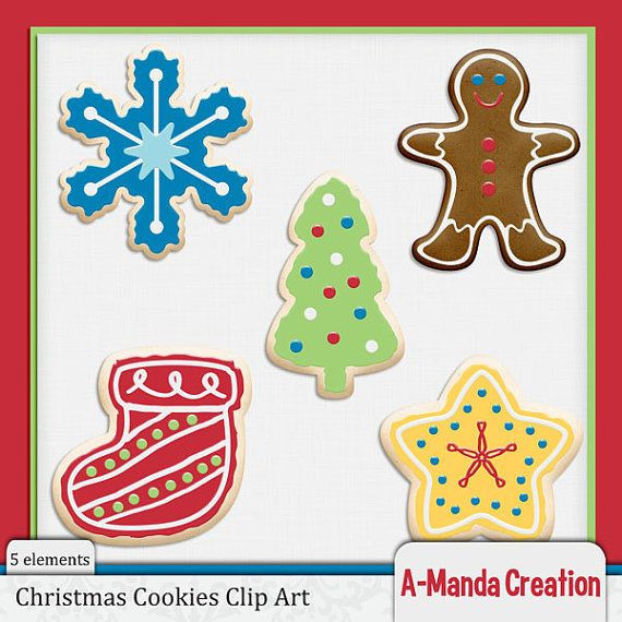 Christmas Cookies Clip Art  Christmas Cookies mercial Use Clip Art