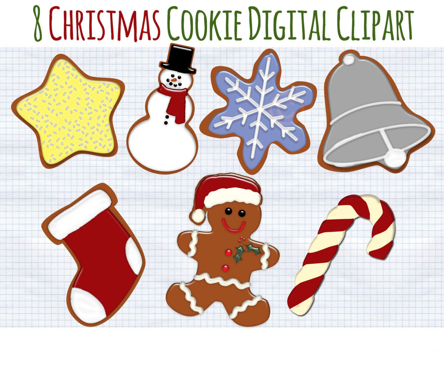 Christmas Cookies Clip Art  Christmas Clip Art Christmas Cookies Clipart Holiday