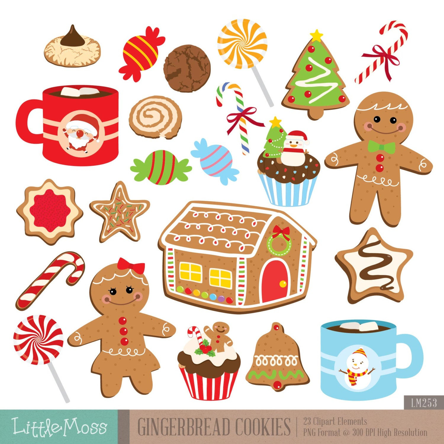 Christmas Cookies Clipart  Christmas Cookies Digital Clipart