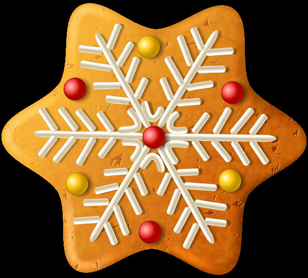 Christmas Cookies Clipart  Christmas Cookie Snowflake PNG Clipart Image