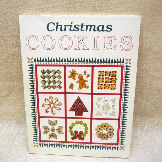 Christmas Cookies Cookbooks  Vintage Christmas Cookies Cookbook by TommysKitchenstuff