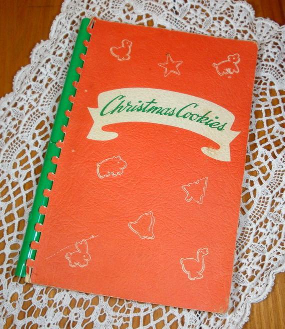 Christmas Cookies Cookbooks  Vintage Christmas Cookie Cookbook Mamie Eisenhower Recipe