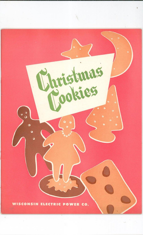 Christmas Cookies Cookbooks  Christmas Cookies Cookbook Plus by Wisconsin Electric