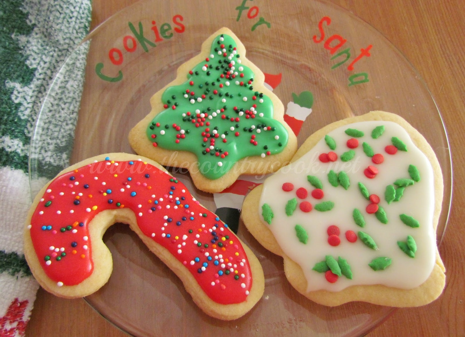 Christmas Cookies Cut Outs  Cut Out Sugar Cookies The Country Cook