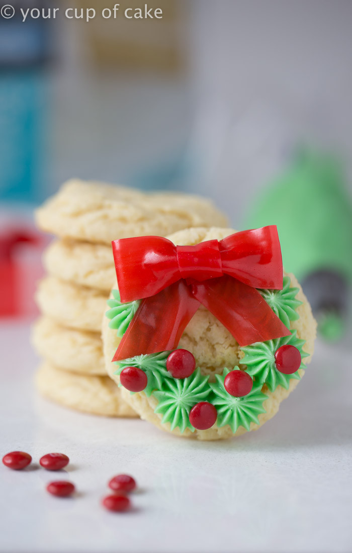 Christmas Cookies Easy  Easy Christmas Wreath Cookies Your Cup of Cake
