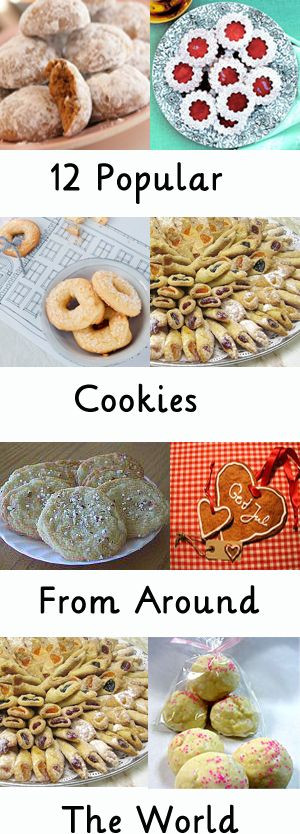 Christmas Cookies From Around The World  12 Popular cookies from around the world Great for a