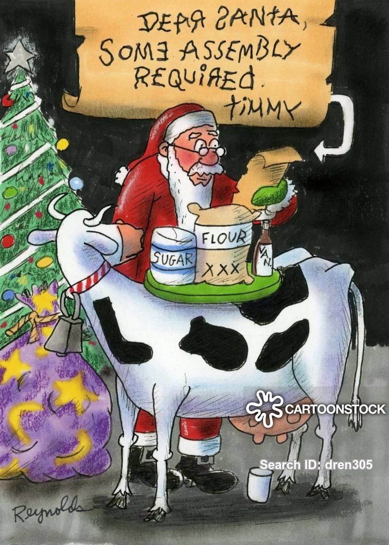 Christmas Cookies Funny  Milk And Cookies Cartoons and ics funny pictures from