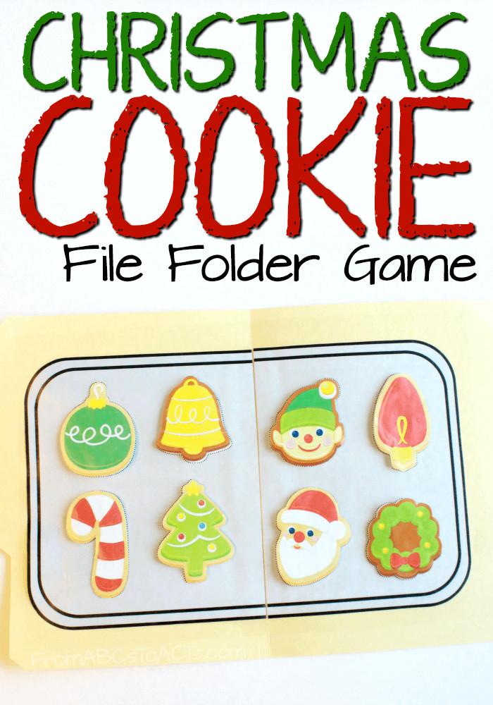 Christmas Cookies Games  Matching Christmas Cookies File Folder Game