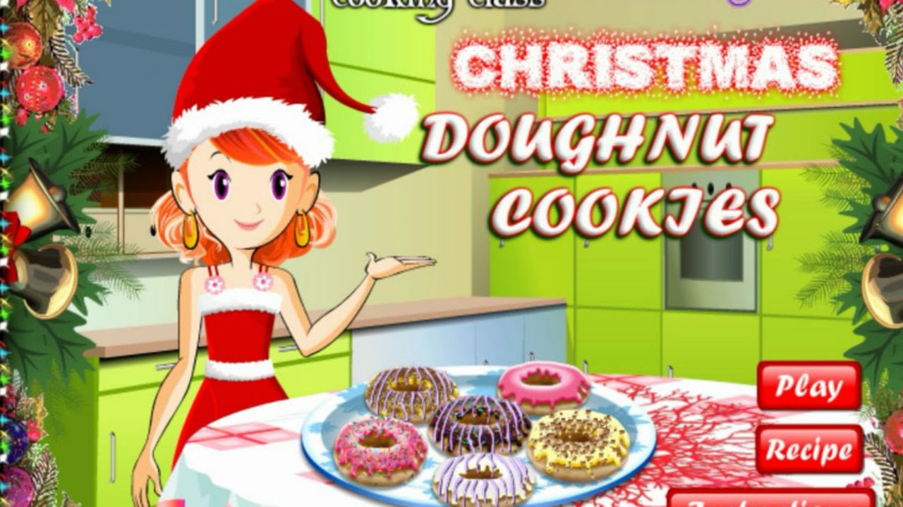 Christmas Cookies Games  Sara s Doughnut Cookies Christmas Cookies Game Top
